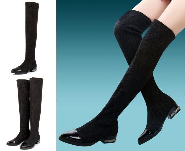 Blog Femina - Modéstia e Elegância: Promoção: botas over the knee da Romwe
