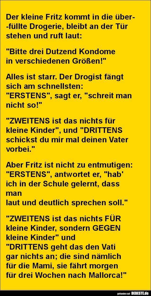 Der kleine Fritz kommt in die überfüllte Drogeri…