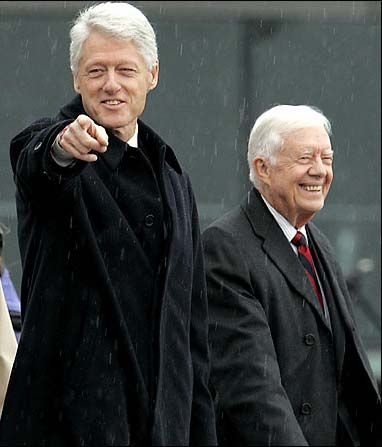 Bill Clinton_Jimmy Carter - Bill, the guy everyone described as the smartest one in the room. A natural politician.
