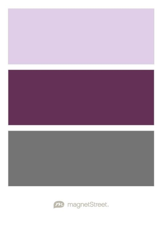 Lavender Eggplant And Charcoal Wedding Color Palette Custom Created At Magnetstreet