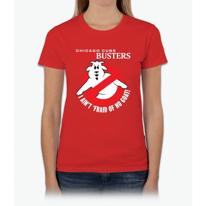 Cubs Goat-busters Womens T-Shirt