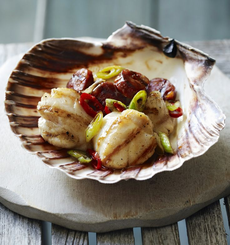 Try spicy chorizo and scallops with a touch of honey for an easy starter with sensational flavour