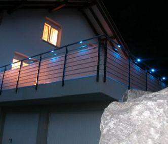 FerroxLED belysning i rostfritt räcke