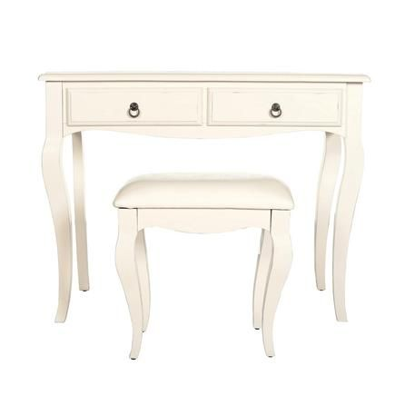 Florence Ivory Dressing Table and Stool | Dunelm