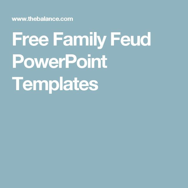 Best 25+ Free family feud game ideas on Pinterest Free internet - family feud power point template