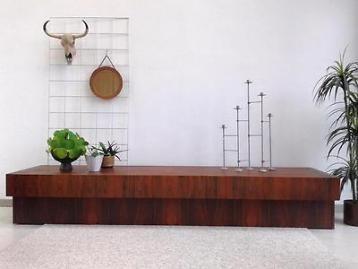 XXL dressoir 2.50 m vintage design lowboard retro tv kast