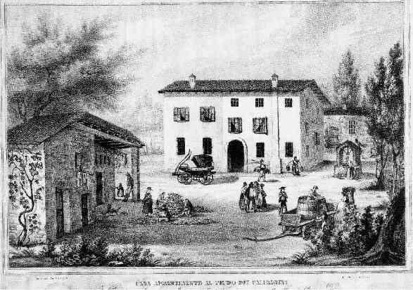 Questa è un'immagine originale della casa Monti al Passetto di Alfonsine, nel XVIII secolo, ritrovata dalla proprietaria Signora Bruna Malpezzi