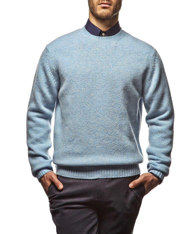 #Maglione #girocollo in #lana #shetland, una lana perfetta per capi #sportivi e pesanti #ai2014