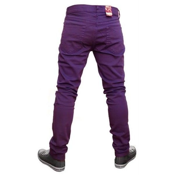 MENS SKINNY JEANS INDIE EMO PUNK ROCK RETRO NEW PURPLE  | eBay ❤ liked on Polyvore featuring men's fashion, men's clothing, men's jeans, mens skinny fit jeans, mens stretch skinny jeans, mens jeans, mens stretch jeans and mens super skinny stretch jeans