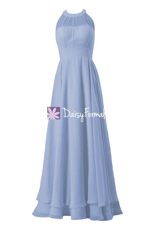 Vintage Blue Bridesmaid Dress Long Evening Dress Pale Blue Formal Dress (CST1004LT)
