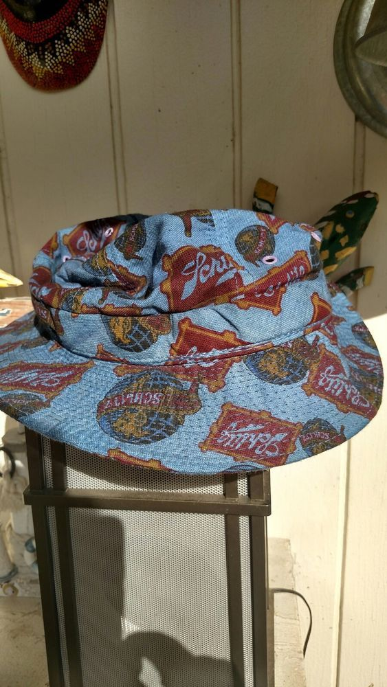 SCHLITZ BUCKET HAT SIZE MEDIUM 7-7 1 8 EXCELLENT CONDITION BLUE MADE IN  USA!!!  fashion  clothing  shoes  accessories  unisexclothingshoesaccs ... 34180f091f3