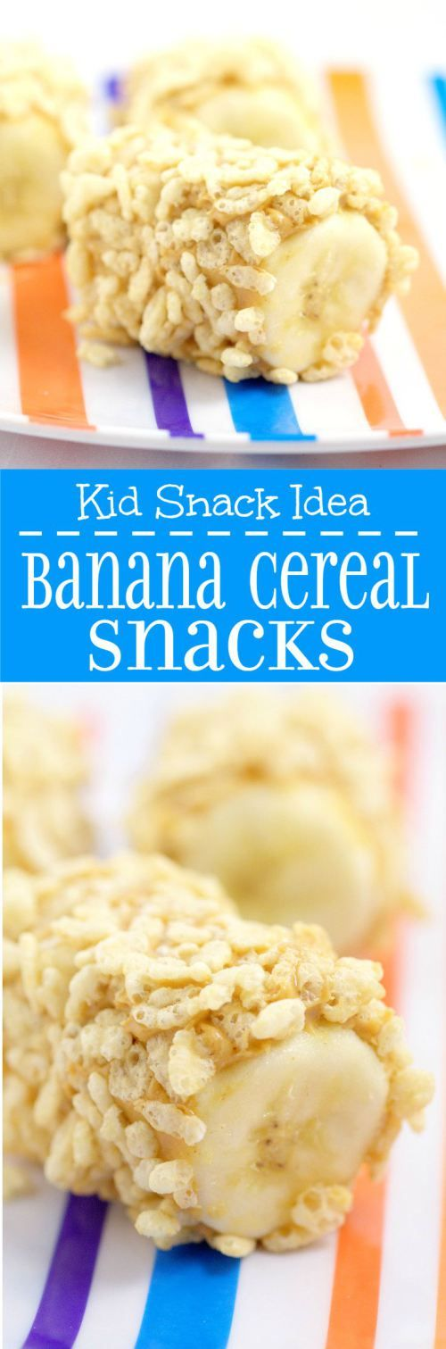 Banana Cereal Snacks- An easy, healthy snack idea for kids. Using ingredients you probably already have on hand.  @ReTweetNGro