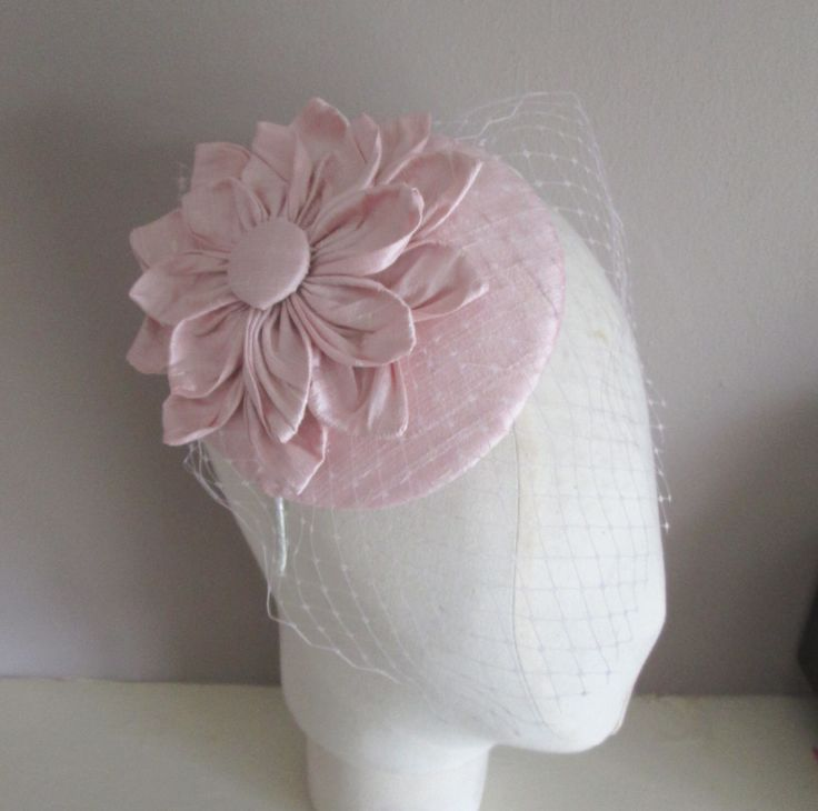 Pink Cocktail Hat - Pink Fascinator, Pale Pink, Baby Pink, Wedding Hat, Bridal, Bridesmaid, Womens Formal Hat, Silk Hat, Mother of Bride by LillibetsMillinery on Etsy https://www.etsy.com/au/listing/294415181/pink-cocktail-hat-pink-fascinator-pale