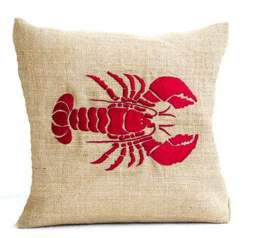 Amore Beaute Handcrafted Red Lobster Embroidered Pillow C... http://www.amazon.com/dp/B00K99SBXU/ref=cm_sw_r_pi_dp_Mhepxb1RDXJ36