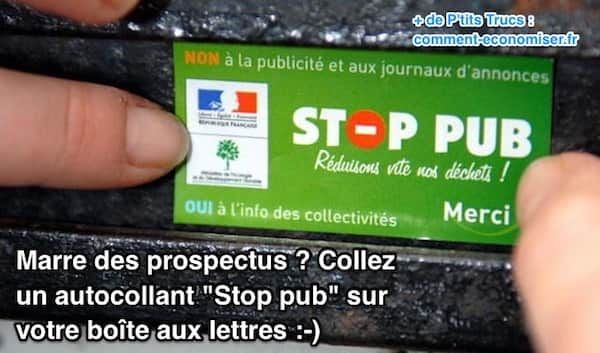 Marre des Prospectus ? Collez un Autocollant Stop Pub Sur Votre Boîte aux Lettres.