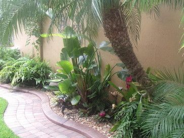 tropical landscape tropical florida interested in winding walkway pavers with edging stone mulch