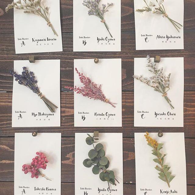 *what if...* エスコートカードにドライフラワーを付けて。 カードは新婦harukaさんの手作り^ ^ こちらでランダムにドライフラワーをご用意。 実はこのフラワーたち、 のちに結婚証明書の一部になります♡ #TRUNKBYSHOTOGALLERY #wedding  #weddingflowers #dryflower #結婚式準備 #ウェディング #ウェディングレポ #ウェディングフォト #ウェディング準備 #エスコートカード #席札 #席次表 #ペーパーアイテム #ナチュラルウェディング #ガーデンウェディング #ドライフラワー #結婚証明書 #プレ花嫁 #卒花 #卒花嫁 #テーブルナンバー #ゲストテーブル #前撮り #高砂 #メインテーブル #2017春婚 #2017秋婚 #ウェルカムボード #ハンドメイド #花のある暮らし