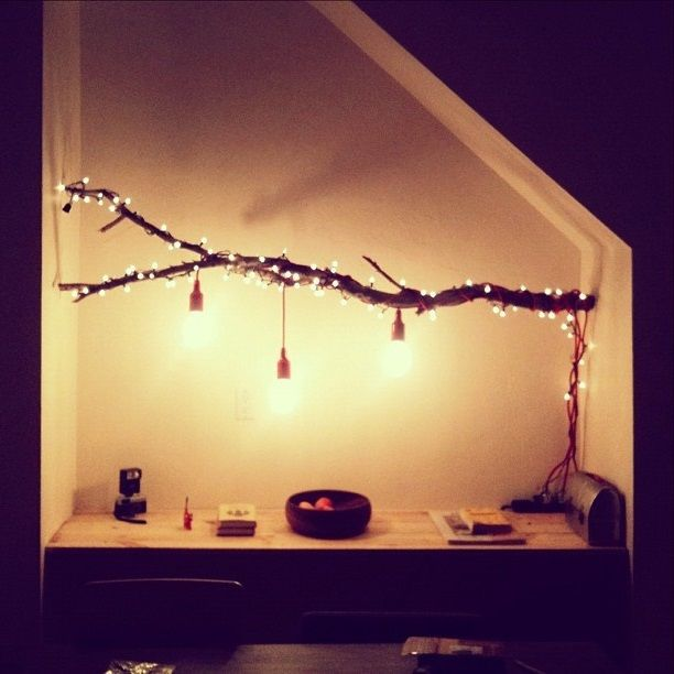 Diy tree floor lamp lighting pinterest trees diy for How to make a lampshade from scratch