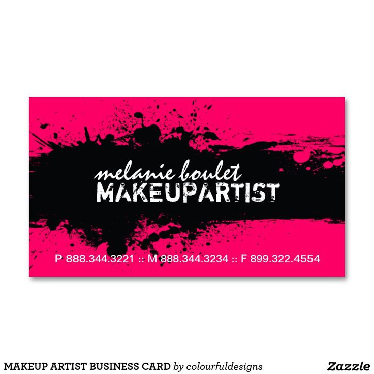 37 best Makeup artist business cards images on Pinterest | Hair ...