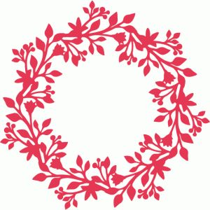 Silhouette Design Store - View Design #52421: intricate wreath
