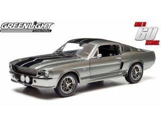 """グリーンライト 映画「60セカンズ」公式商品 1967年モデル フォード マスタング 「エレノア」 映画「60セコンズ」 1967 Ford Mustang """"Eleanor"""" Gone in 60 seconds (2000), tungsten grey with black stripes http://item.rakuten.co.jp/dtwstore/10001244/"""