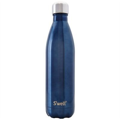 S'well has re-imagined the water bottle as a sleek, chic and portable hydration vessel. Their bottles are made from the highest quality stainless steel with a lightweight, double-walled design that keeps beverages hot or cold for hours. They're also non-leaching, toxin free, virtually unbreakable, and have wide mouths for easy cleaning, or adding ice cubes. Best of all, they help save the planet from plastic waste. 25-oz capacity/750ml.