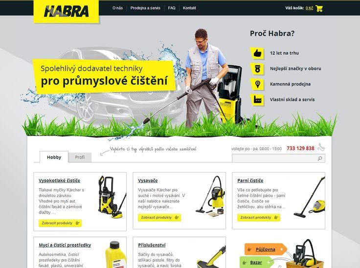 Vytuněný eshop www.habra.cz