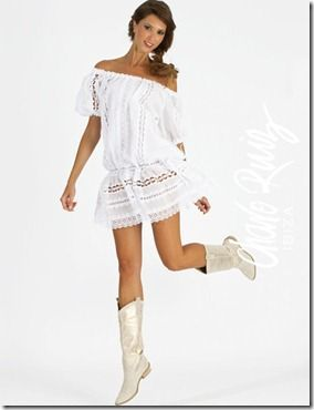 Vestido largo ibicenco blanco taps