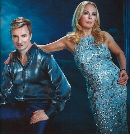 Jayne & Chris in hello 2014 LOVE this pic! #Hello #Torvill #Dean