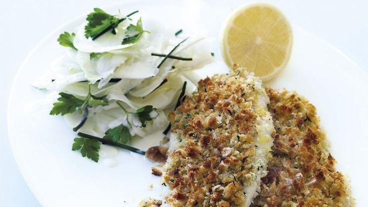 Receta   Escalope de pollo vienés (Grilled chicken schnitzel with fennel slaw) - canalcocina.es