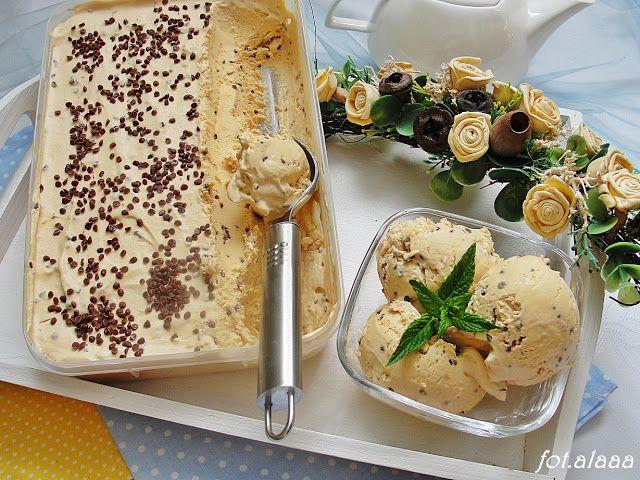 Ala piecze i gotuje: Lody kajmakowe z czekoladą