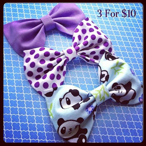 Panda Lavendar and white Purple polka dots by Bowliciousdivas, $10.00