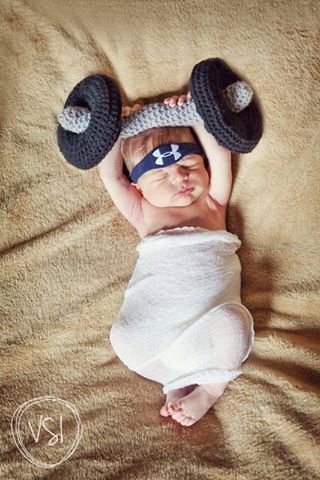 Too cute! https://www.etsy.com/listing/183914237/crossfit-dumbbell-photo-prop-for-baby