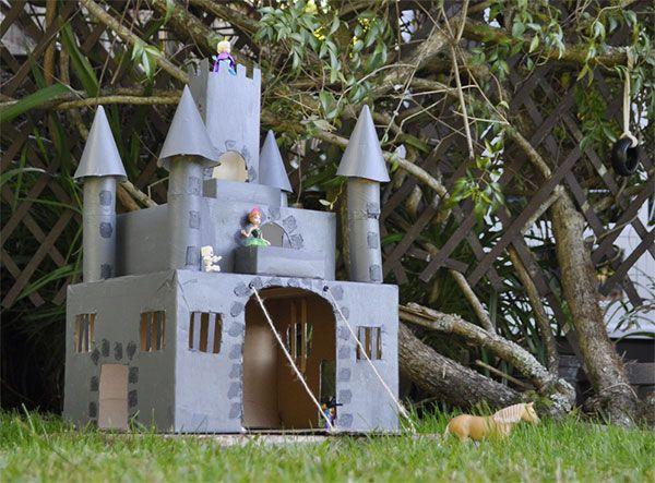 su Castello Di Cartone su Pinterest  Castello di cartone, Case di ...