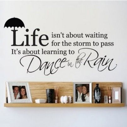 Find More Wall Stickers Information about Inspirational Quotes Wall Stickers Life Isn't About Waiting For The Storm To Pass It's About Learning To Dance In Rain Decals,High Quality stickers big,China life juicer Suppliers, Cheap life recorder from Dafeng wall art Store on Aliexpress.com