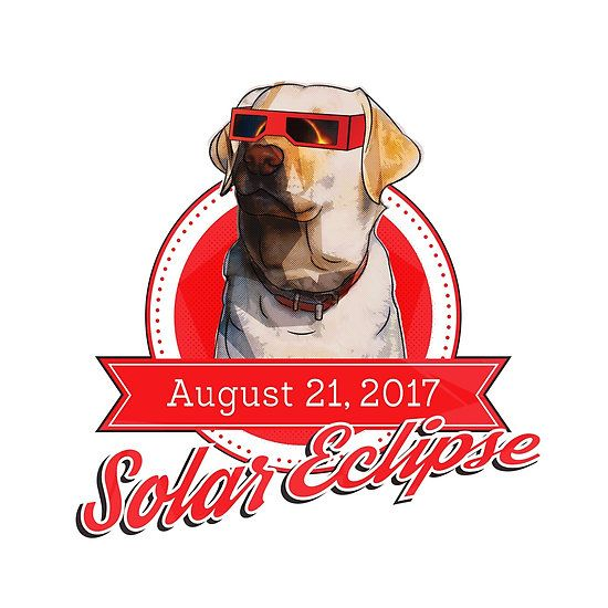 Solar Eclipse Dog Glasses Red Popart