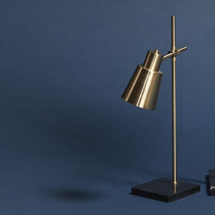 Brass Table Lamp   Design Vintage   Hubsch