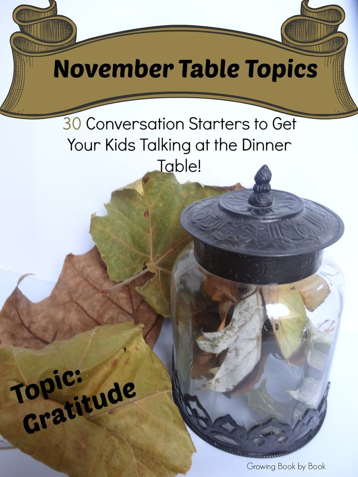 conversation starters focusing on gratitude from growingbookbybook.com