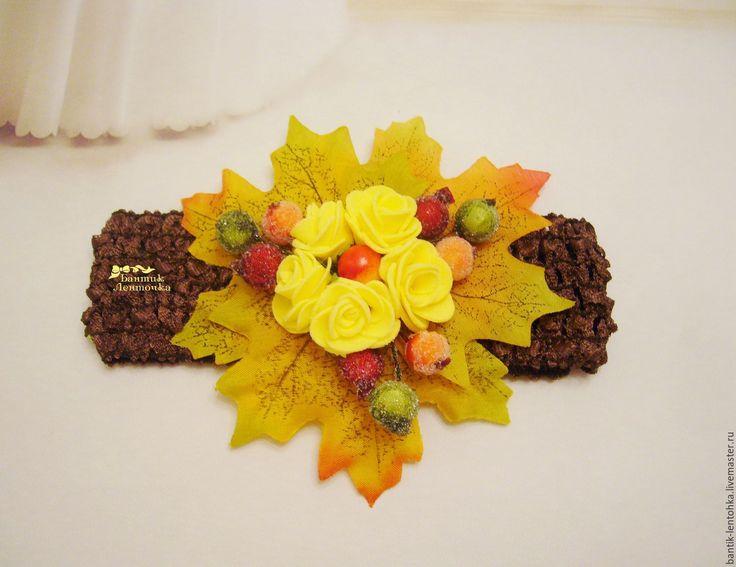 """Купить Повязка для волос """"Краски осени"""" - кленовый лист, кленовые листья, повязка на голову"""