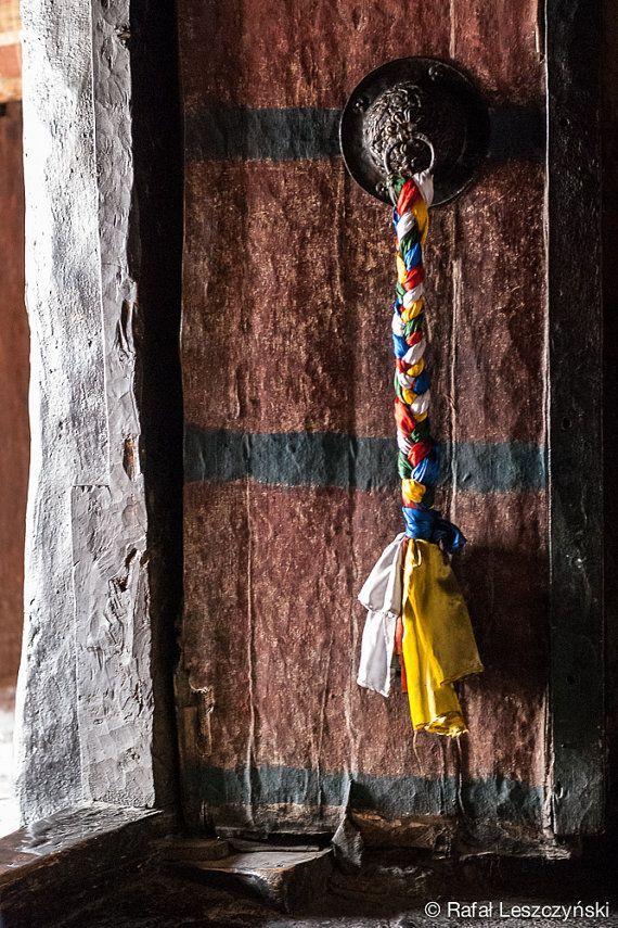 Door to a praying hall in tibetan buddhism monastery - Ladakh, India - travel photograpy by RafLeszczynskiPhotos