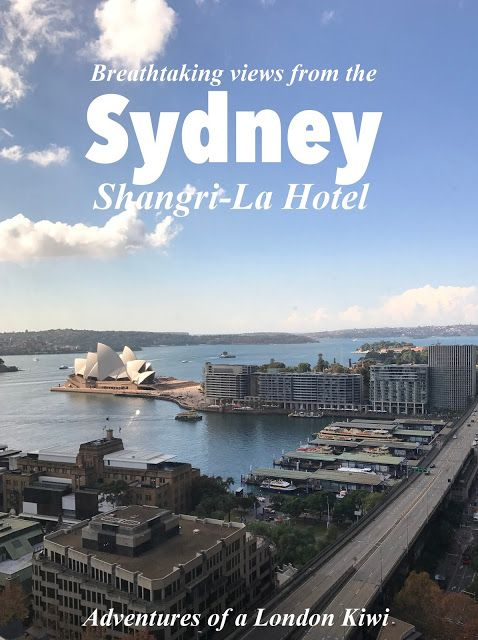 The best hotel view in Sydney - the luxury Shangri-La Hotel in Circular Quay.