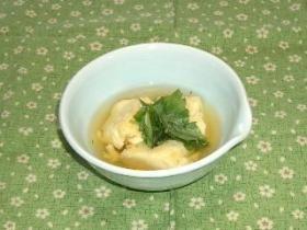tamagoyaki with dashi だしかけ卵焼き (mitsuba)
