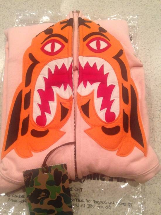 Bape BAPE Pink Tiger Hoodie size Large NEW WITH TAGS Size l - Sweatshirts & Hoodies for Sale - Grailed