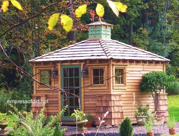 Fancy Backyard Sheds : Fancy Sheds, Pool House, AKA The Cat House on Pinterest  Garden sheds