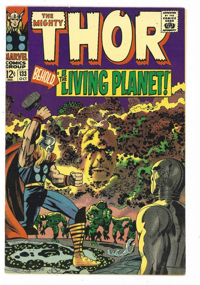 Thor #133 Marvel 1966, Lee / Kirby, Ego the Living Planet VF