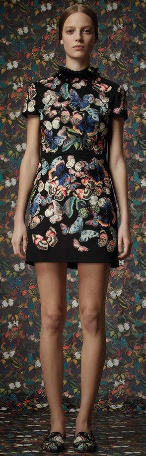 Pre-Fall Valentino. I've seen several Elevations dresses covered in flowers. Oh, to have a dress covered in butterflies!