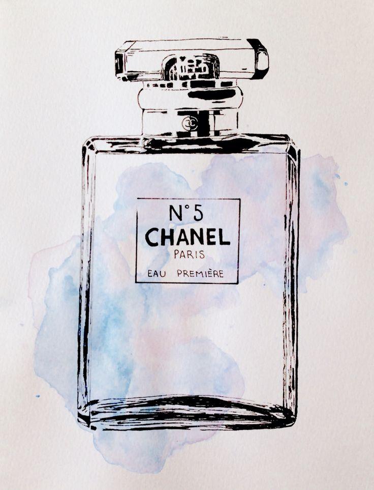 #drawing #perfume #chanel