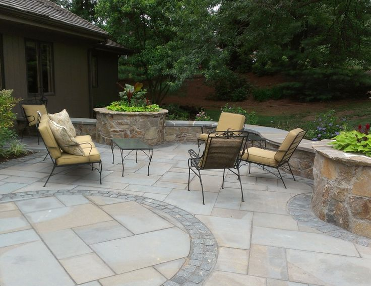 Accents of nature designed and built this natural stone for Natural terrace