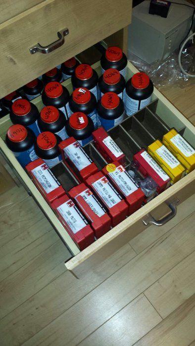 Well-organized bench