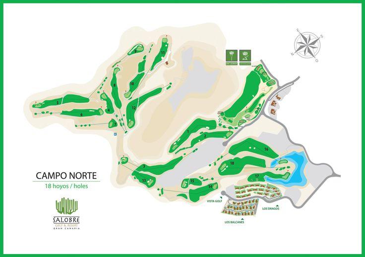 Recorrido del campo norte. Campo de Golf El Salobre. Gran Canaria. Canary Islands